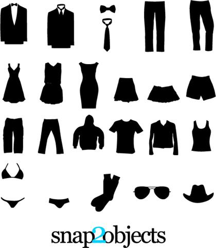 clothing silhouettes cs4