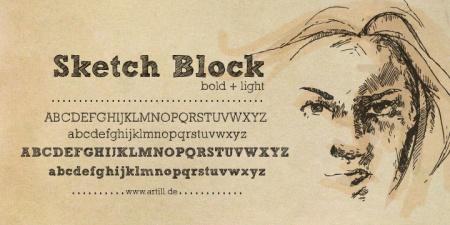 sketch block türkçe font u aramaktayım