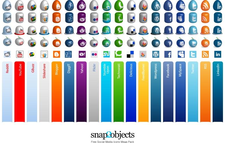 free social media icons mega pack